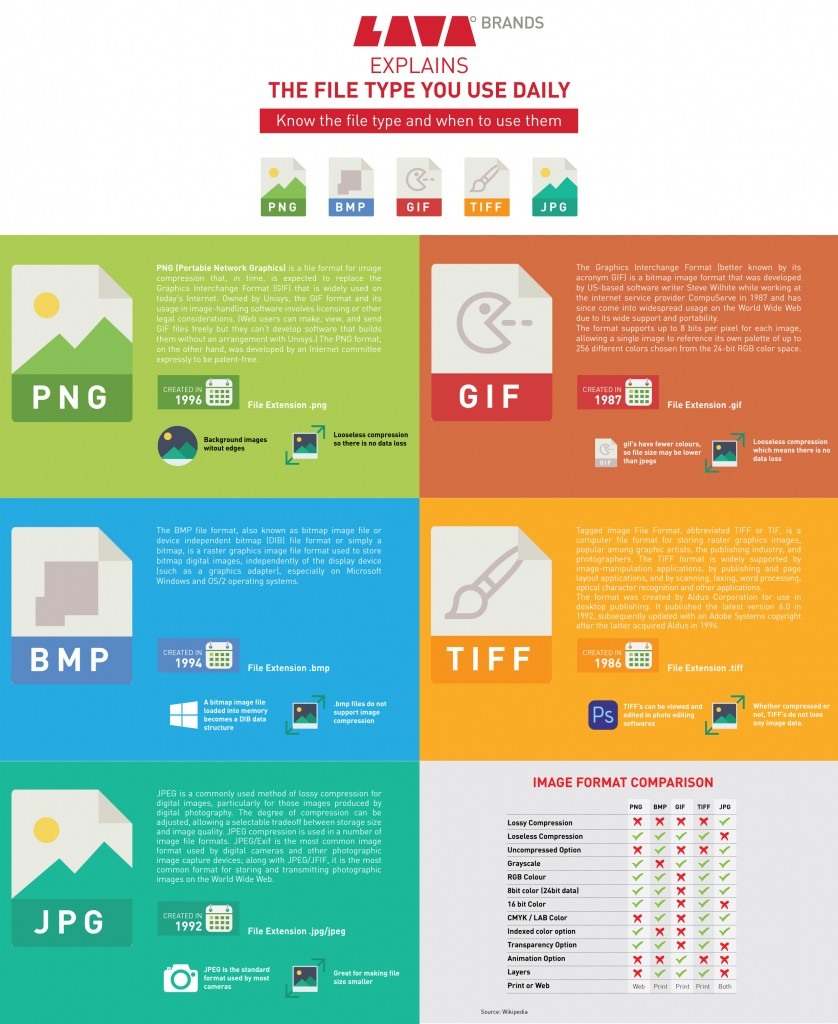 Info Graphics Of File Formats